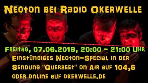"""07.06.2019 / Neoton in der Sendung """"Querbeet"""" bei Radio Okerwelle"""